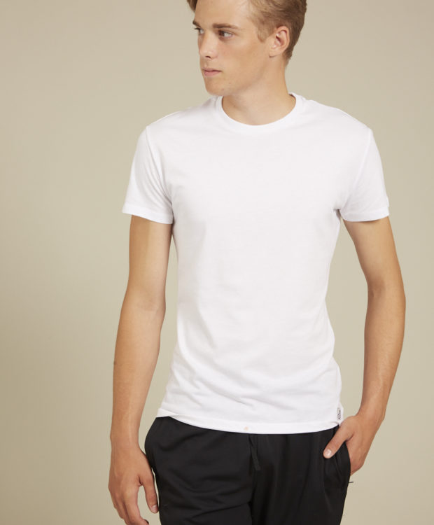 Sonality How it fits mens t-shirt white front