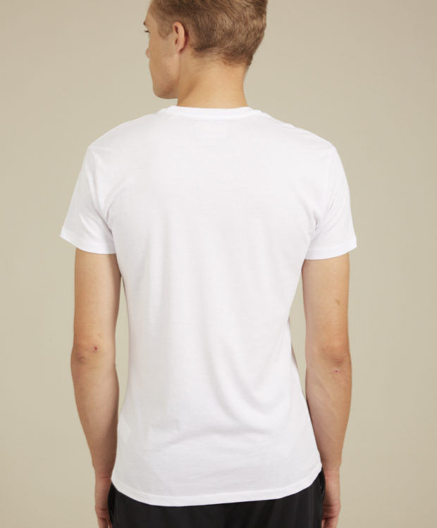 Sonality How it fits mens t-shirt white back