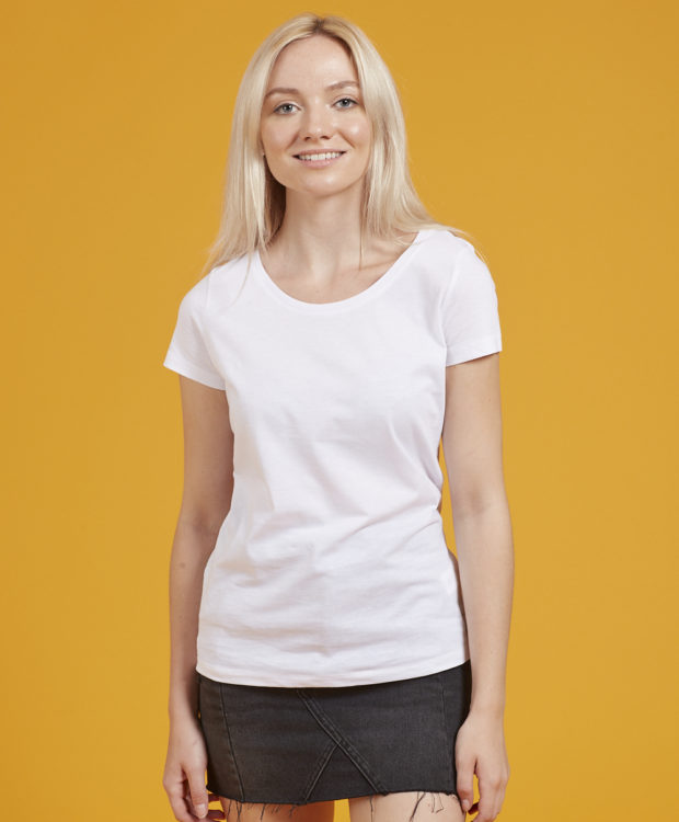 Sonality How it fits womens fitted t-shirt front view