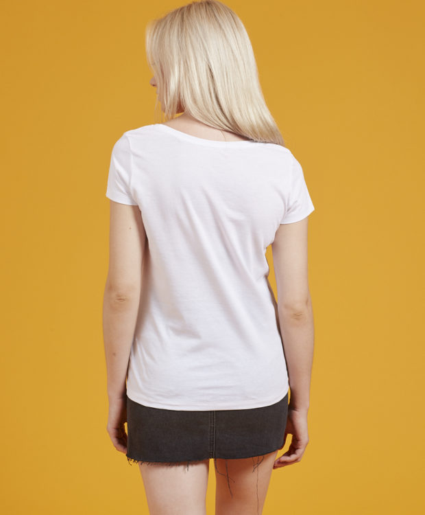 Sonality How it fits womens fitted t-shirt back