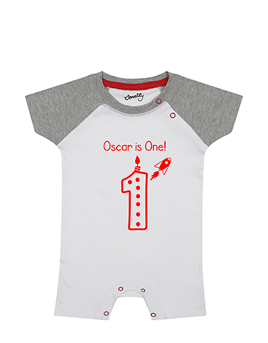 Personalised Birthday Rocket Romper organic romper design