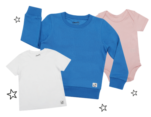 baby and kids clothing blank examples