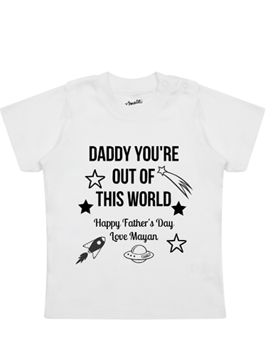 Father's Day Galaxy T-Shirt personalised baby tee
