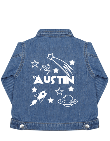 Baby denim jacket perfect for personalisation