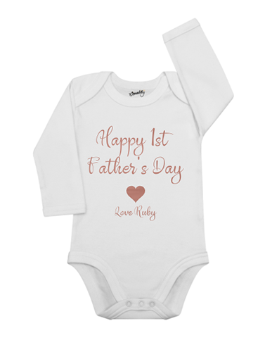 Personalised 1st Father's Day Baby Grow for personalising