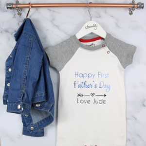 Father's Day Gift from baby personalised baby grow idea