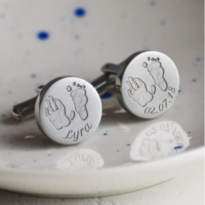 Father's Day Gift from baby incorporating personalised cufflinks
