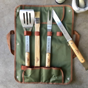 Personalised BBQ set makes a great Father's Day Gift from baby