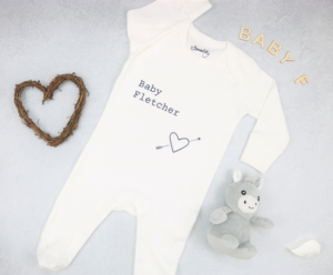 New born essential: personalised baby grow