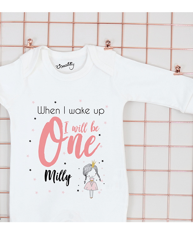 Personalised Birthday Eve Babygrow image