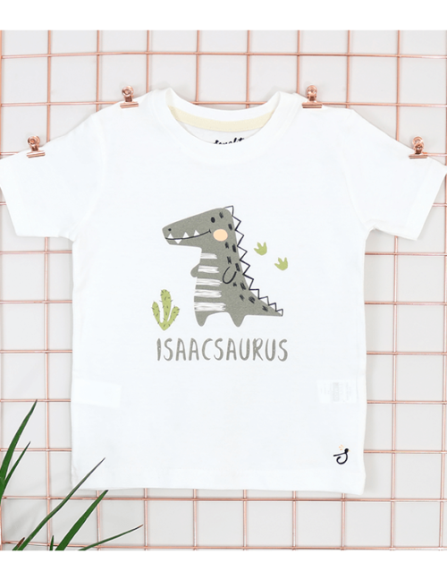 Personalised Dinosaur t shirt Image