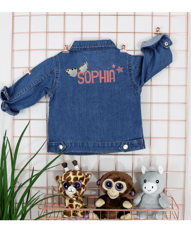 Personalised Baby Denim Jacket Photo