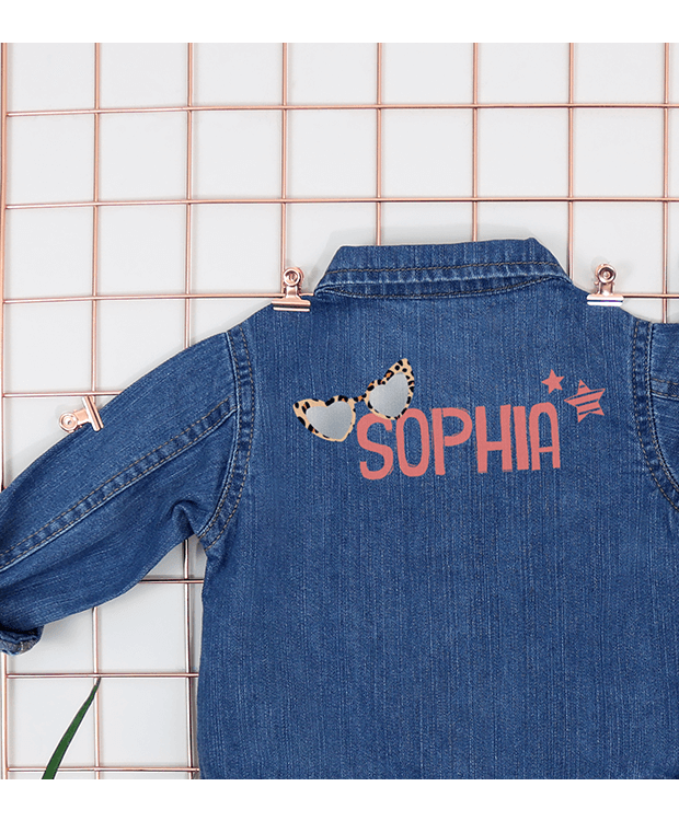 Personalised Baby Denim Jacket Back