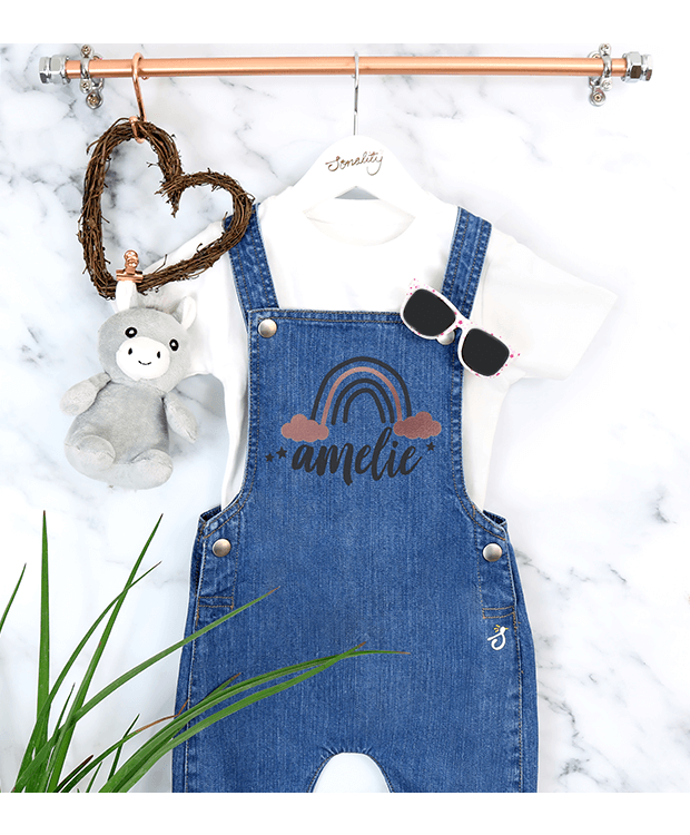 Personalised Baby Dungarees Image