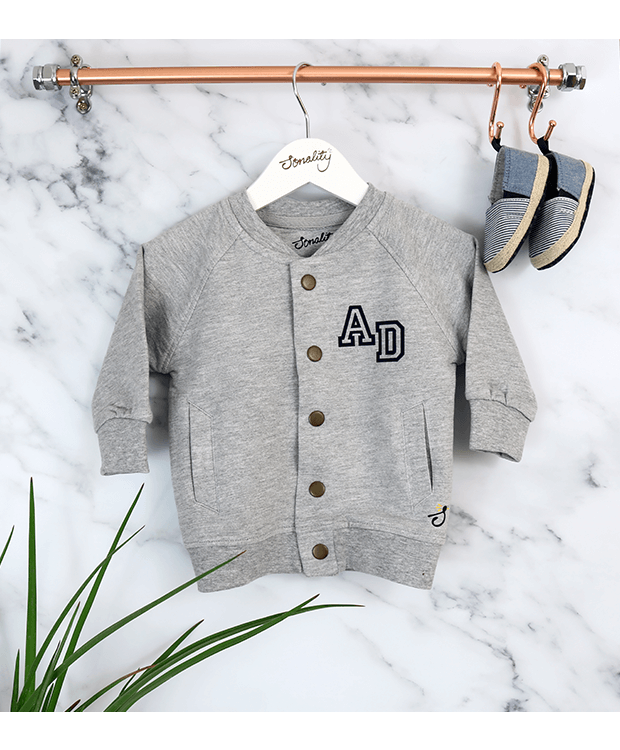 Bomber Jacket for babies Grey