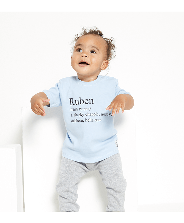 Personalised Baby Name T Shirt Images