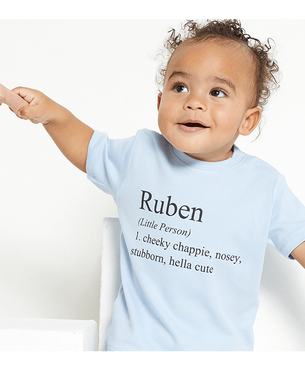 personalised definition baby T-shirt image