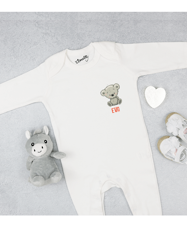 Personalised Bear Babygrow Image