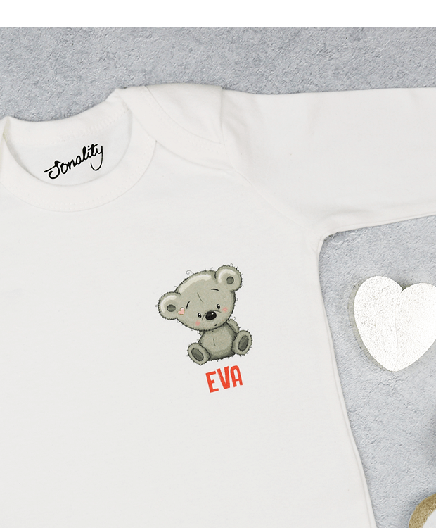 Personalised Bear Babygrow PIcture