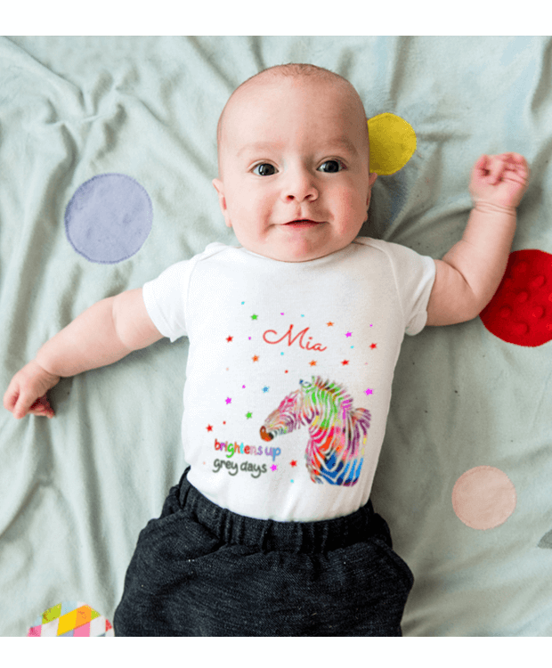 Personalised Colourful Bodysuit Picture