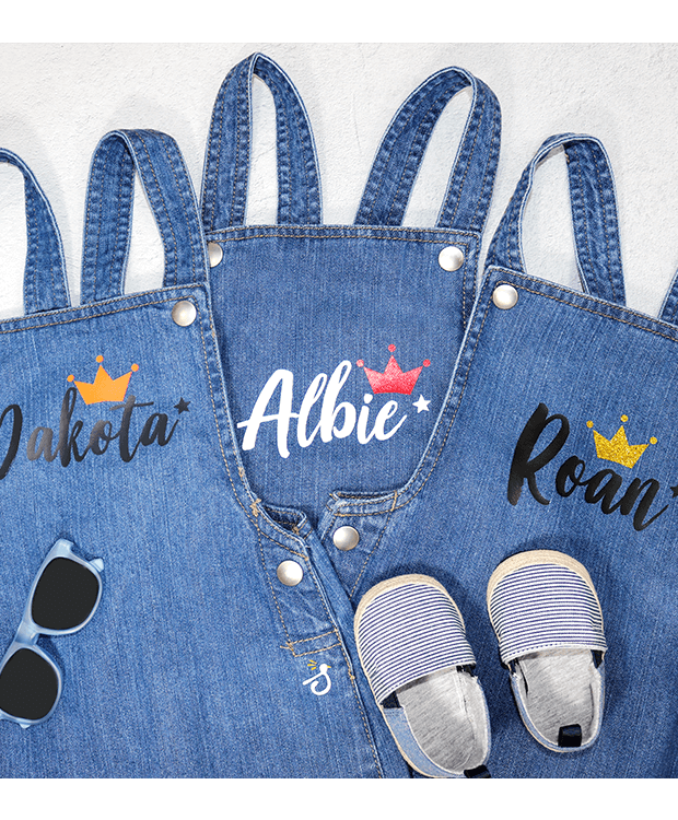 Personalised Denim Dungarees for Babies Variety