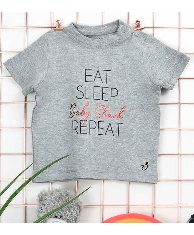 Personalised Eat Sleep Repeat T Shirt zoomed in image