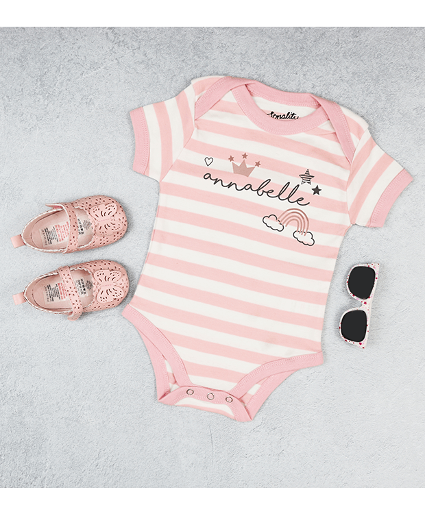 Personalised Name bodysuit photo