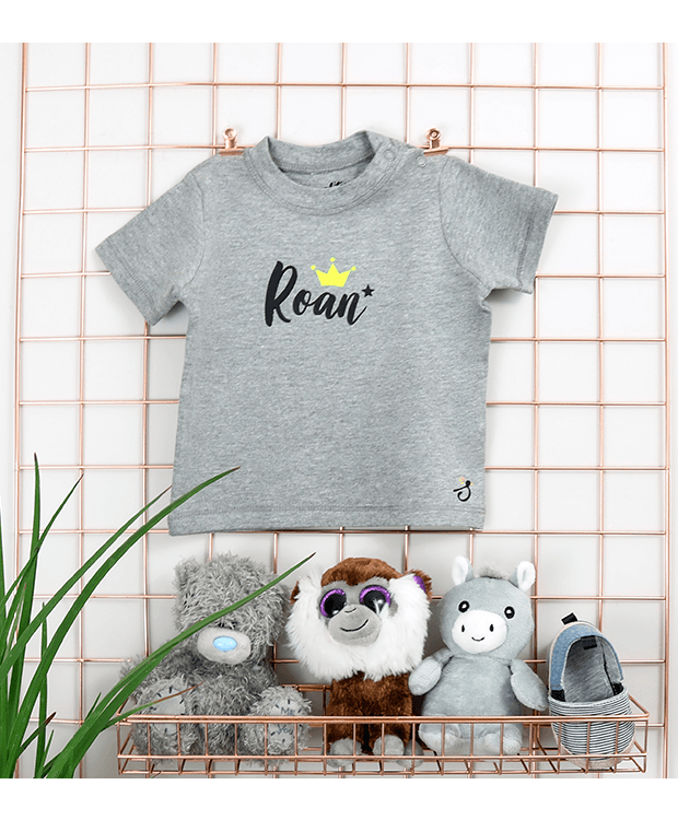 Personalised Baby T Shirt Image with crown