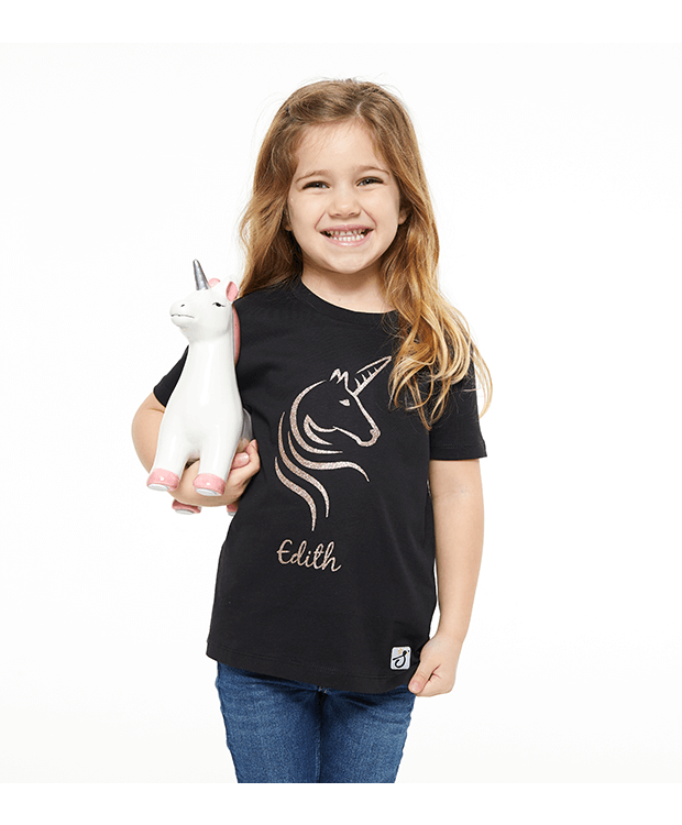 Personalised Unicorn T Shirt Image