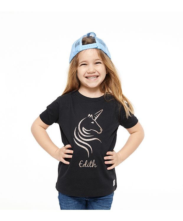 Personalised Unicorn T Shirt Photo