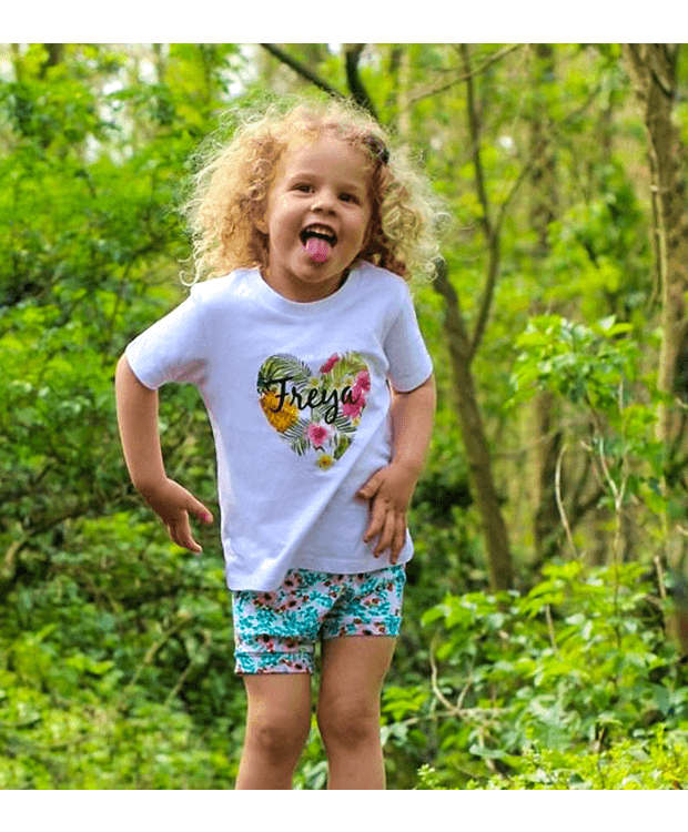 Personalised childrens heart t shirt