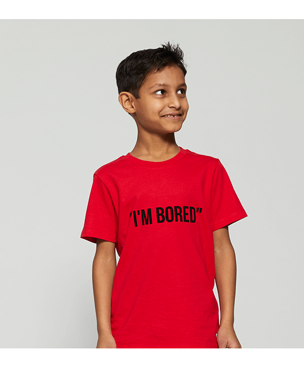 Personalised slogan t shirt in red