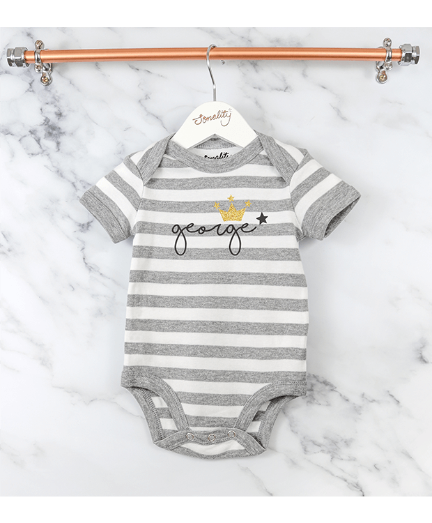 Personalised stripey bodysuit image