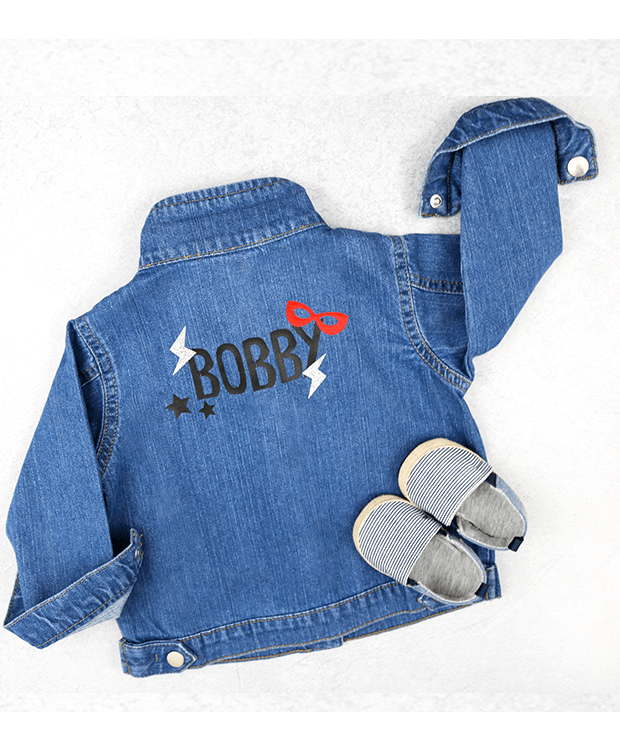 Personalised Superhero Denim Jacket picture