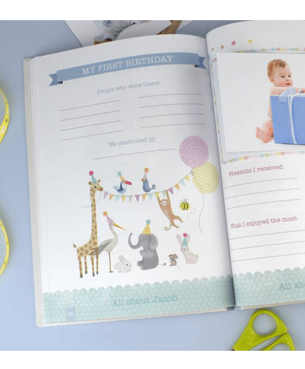 Personalised Baby Record Book Detail
