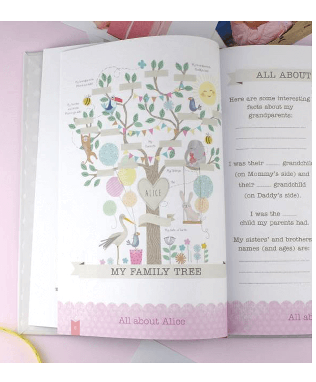 Personalised Baby Record Gift Family Tree