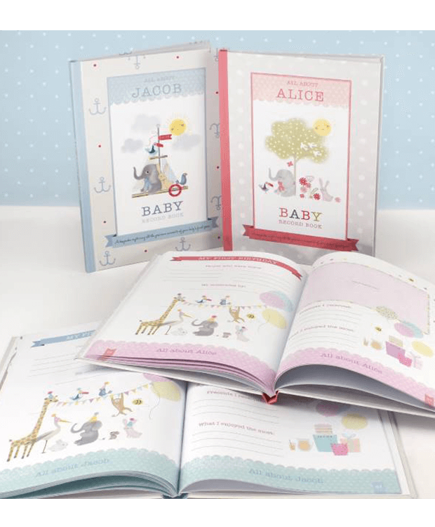 Personalised Baby Record Book Overview