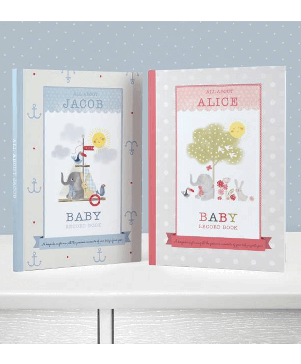 Personalised Baby Record Book Main Image