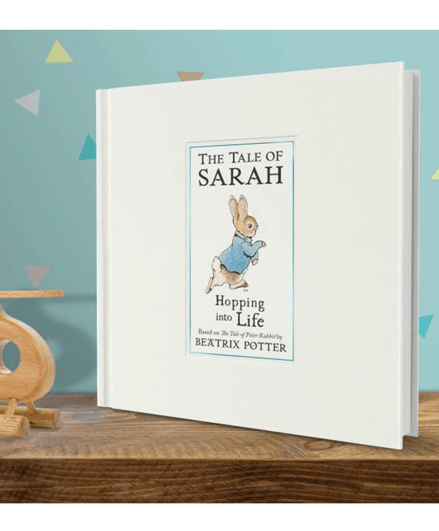 Personalised Peter Rabbit Book on Shelf