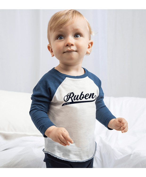 personalised baseball baby t-shirt main image