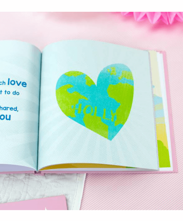 Personalised Baby Book World Page