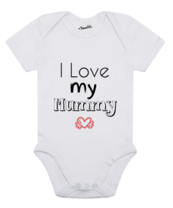 Design Your Own Personalised Baby Clothes with heart wings