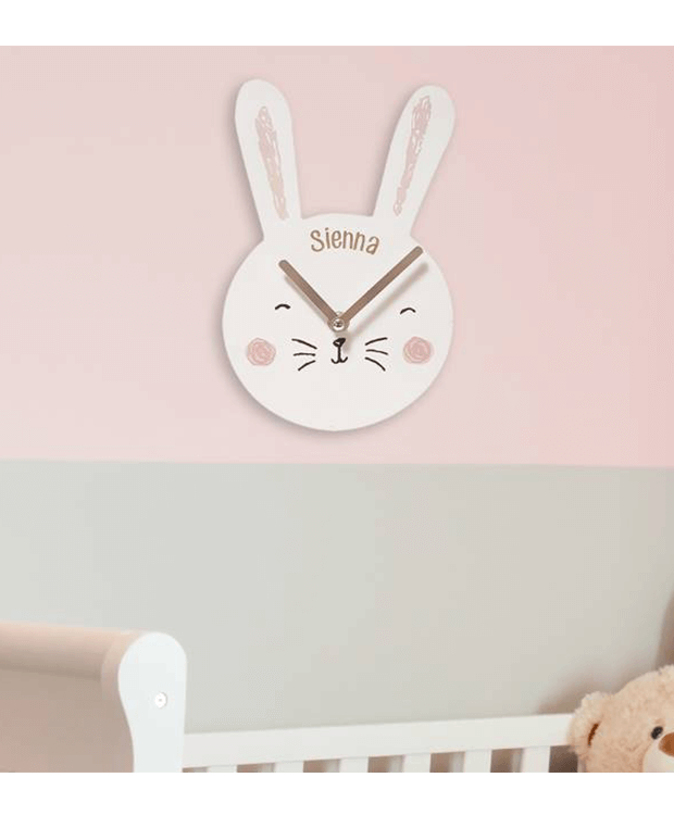 Personalised Clock with Bunny