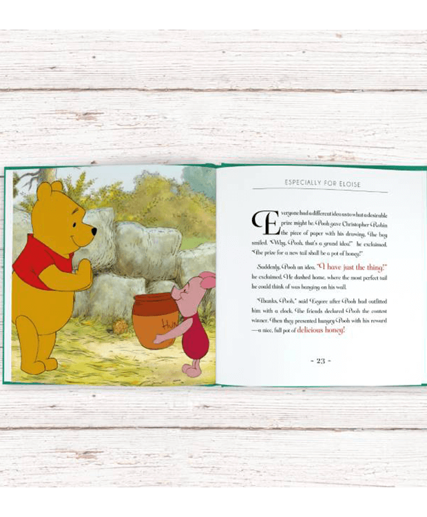 Personalised Book with Winnie the Pooh Inside