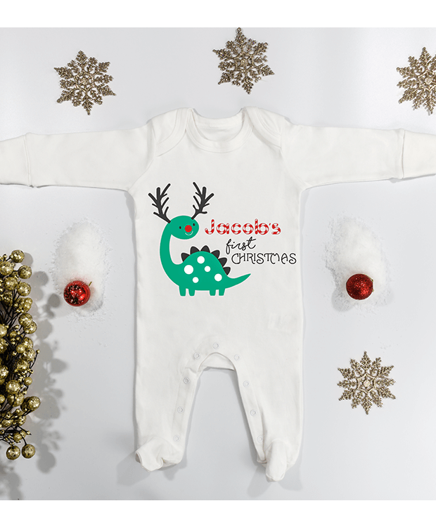 my first Christmas sleepsuit image