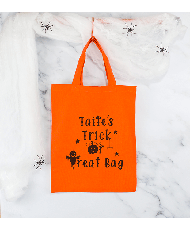 trick or treat bag in orange