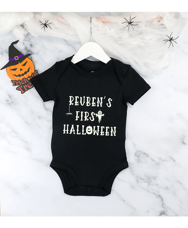My First Halloween baby grow hanging
