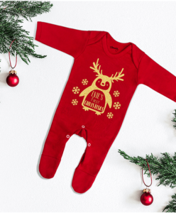 Personalised Christmas pyjamas and baby grows