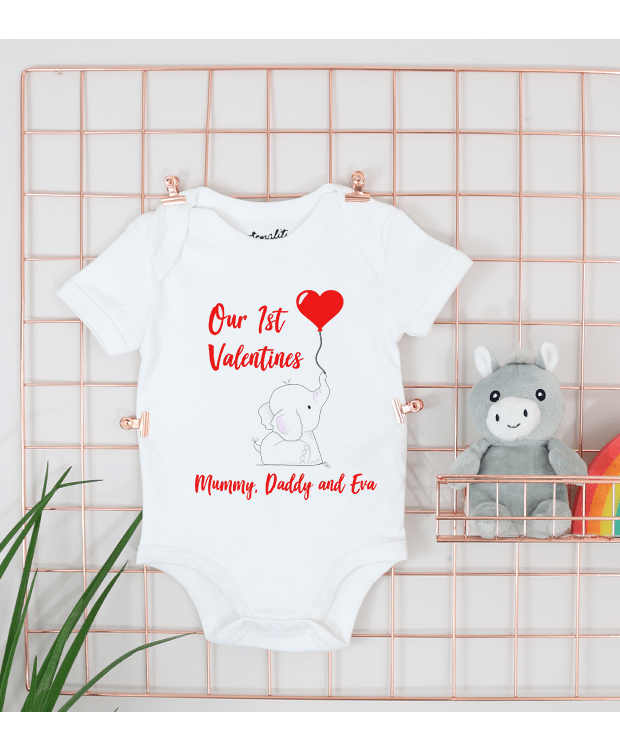 Personalised Valentines Baby Grow Image