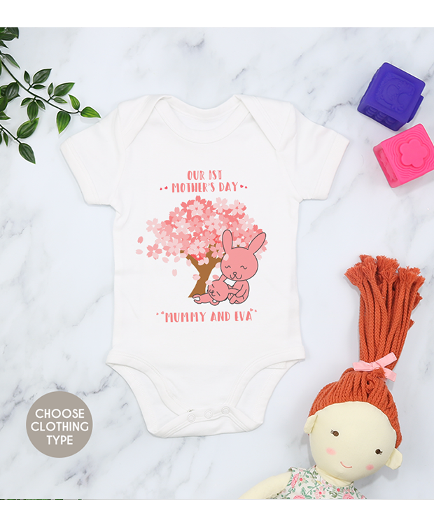 personalised Mother's Day babygrow